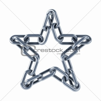 chain links united in a star