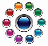 Glossy color buttons set.
