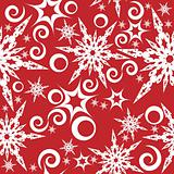 Background with snowflakes, star and decoration