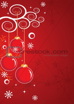 Abstract Christmas and New Year's background with snowflakes, st