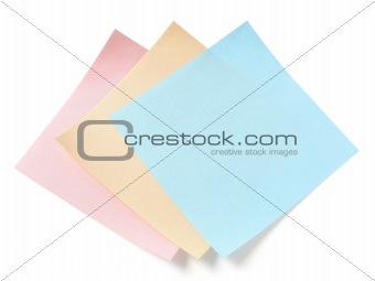 three blank stickers