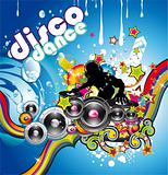 Discoteque Colorful Background