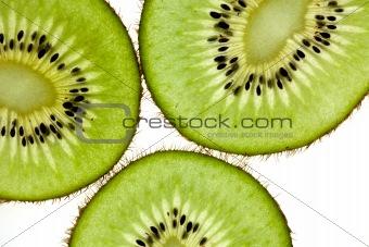 Sliced Kiwifruit isolated on white