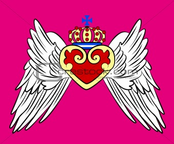 crown with wing element