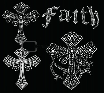 cross and faith beaded design