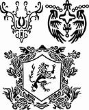 classic royal heraldic element