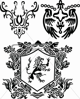 classic royal heraldic element