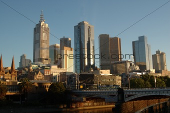Melbourne City, Australia, at sunrise