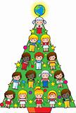 Country Children Christmas Tree