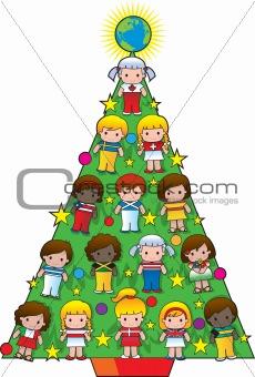Country Children Christmas Tree