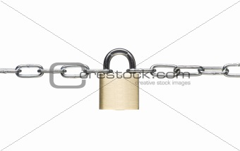 Padlock with a chain