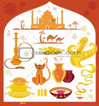 arabic set of design elements.