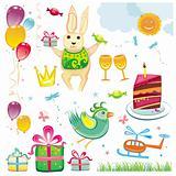 Birthday and celebration natural set