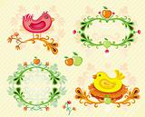 Colorful set of Autumn design elements