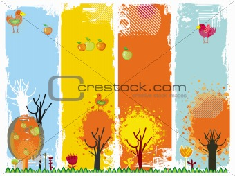 Autumn vertical banners