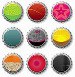 bottle caps 2 - vector set