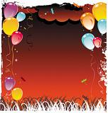 Balloons frame composition with space for your text