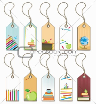 Back to school - tags set