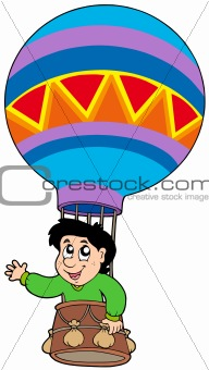 Boy in balloon