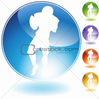 Throwing Football Crystal Icon