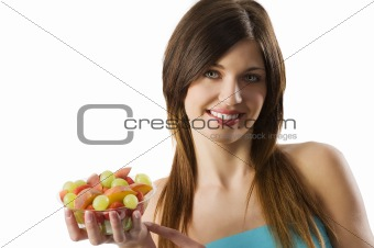 fitness fruit girl