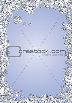 Background new year blue snowflakes
