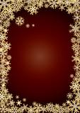 Background new year gold snowflakes