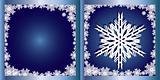 Blue Greetings card Snowflake