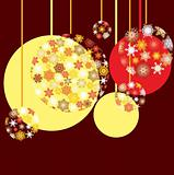 New Year`s baubles