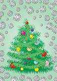 Furry Christmas tree card