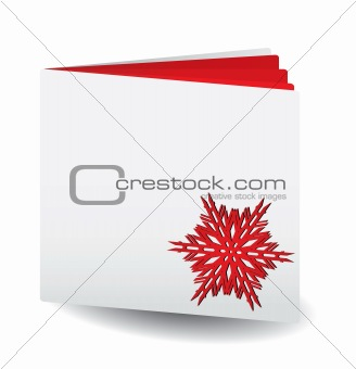 Red papered book  with snowflake on top