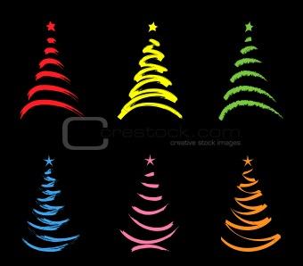 christmas-trees-pop art
