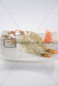 Prawn Sushi plate