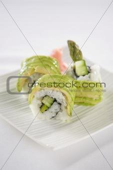 Avocado Sushi plate