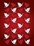 origami paper crane vector pattern