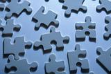 Jigsaw Pieces with Dramatic Light