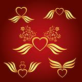 gold love symbol vector illustration