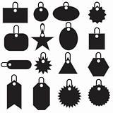 Multiple Tag Icons - black
