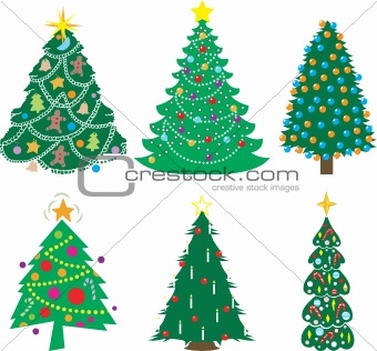 A Variety of Christmas Trees