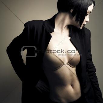 Portrait of beautiful stylish lady