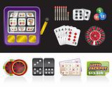 casino and gambling tools icons