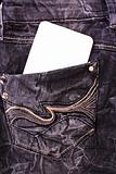 White label in jeans pocket