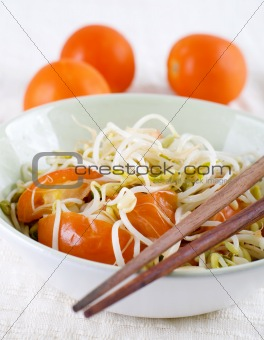 Bean sprouts.