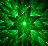Green star abstract background