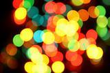 Color christmas lights on the tree