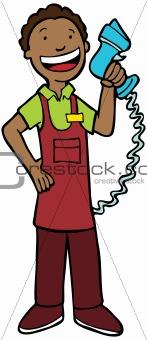 Cashier Man - Ethnic