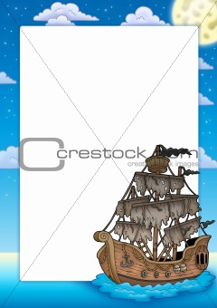 Frame with mysterious ship