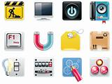 Vector universal square icons. Part 5 (white background)