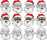 Santa Faces