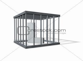 big L in a cage